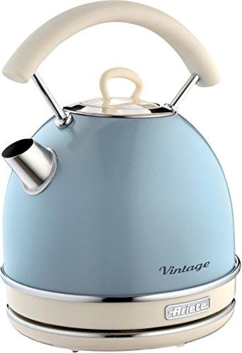 Ariete Celeste 2877 Kabelloser Wasserkocher Vintage, 1,7 L, 2200 W, blau, Rostfreier...
