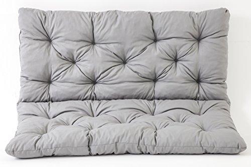 Meerweh Sitzkissen und Rückenkissen Bank Hanko, grau, ca 100 x 98 x 8 cm,...