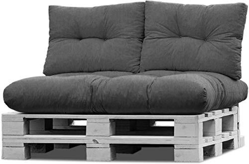 normani Palettenkissen Set Sofa Sitzkissen mit Rückenkissen Outdoor Palettenauflagen...