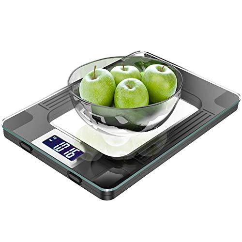 Küchenwaage, Digitale Küchenwaage mit Hochsensiblem LCD Display zur Genauen Gramm...