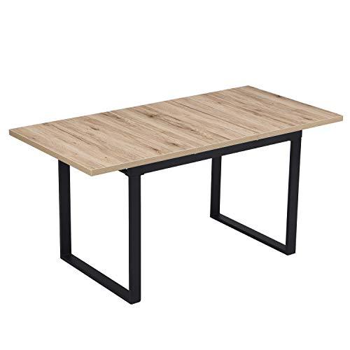 B&D home - Esstisch ausziehbar 120-160x80 cm | Holztisch in Sanremo Eiche |...