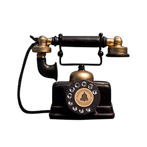 VOSAREA Vintage Telefon Desktop-Dekoration Retro-Telefon Modell Ornament für Home...