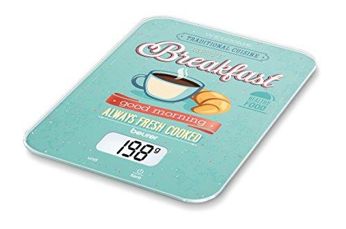 Beurer KS 19 Breakfast, digitale Küchenwaage (mit Tara-Zuwiegefunktion,...