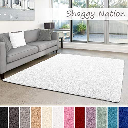 Shaggy-Teppich   Flauschiger Hochflor fürs Wohnzimmer, Schlafzimmer oder...