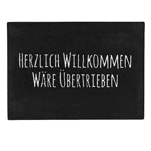 """Pechkeks Fußmatte mit Spruch """"Herzlich Willkommen. """" (Größe 70x50cm..."""
