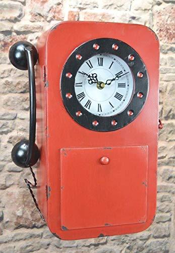 Livitat Schlüsselkasten Schlüsselschrank 35 cm hoch Metall Retro Vintage mit Uhr...