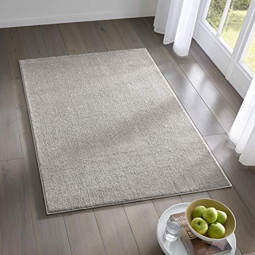 Teppich Wölkchen Kurzflor Teppich I Flauschige Flachflor Teppiche fürs Wohnzimmer,...