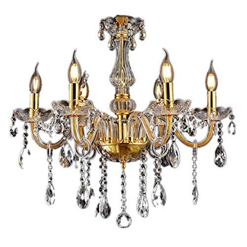 LeMeiZhiJia Kristall Kronleuchter Vintage Lüster Deckenleuchte Pendelleuchte Gold...