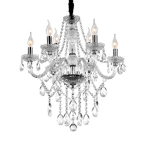 Fscm Kristall Kronleuchter Lüster Transparent Hängelampe Leuchter Lampe...