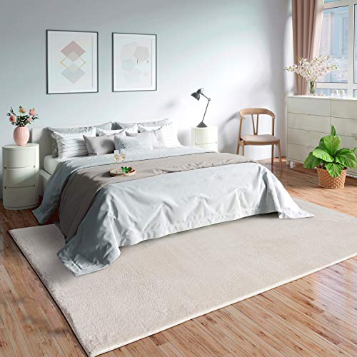 Mia´s Teppiche 'Olivia' Wohnzimmer Teppich, Kurzflor, 200x290 cm, Creme