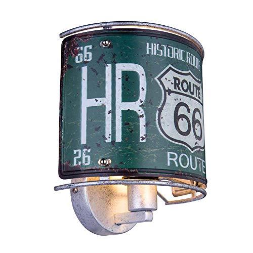 RETRO Wand Lampe Wohn Zimmer USA Nummernschild Beleuchtung Route 66 Dekor Leuchte...