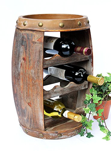 DanDiBo Weinregal Holz Klein Weinfass 1555 Flaschenständer Flaschenregal 50 cm Regal...