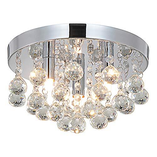 Style home Kristall Kronleuchter Deckenleuchte, 3 Flamming Deckenlampe Hängeleuchte...