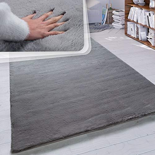 Paco Home Hochflor Teppich Wohnzimmer Kunstfell Super Soft Einfarbig in Versch....