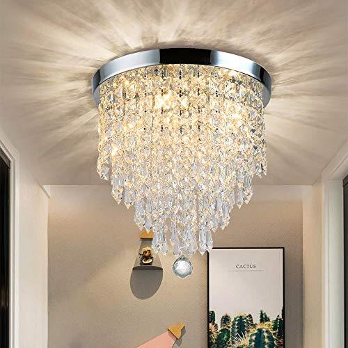 DLLT Modern Kronleuchter Kristall K9 mit Elegantem Design, Rund Acryl, 4...