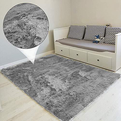 Hochflor Teppich Wohnzimmerteppich Langflor - Teppiche für Wohnzimmer flauschig...