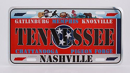 Dimension US-Nummernschild 9 für Deko-Zwecke, Design: Alabama, Tennessee
