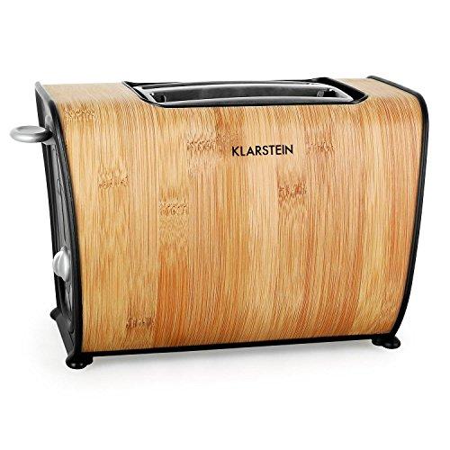Klarstein Bamboo Garden Toaster 2-Scheiben-Toaster Doppelschlitz-Toaster für 2...