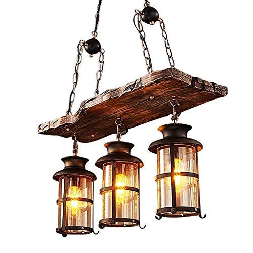 Vintage Kronleuchter Vintange Deckenlampe 3 Lichter,JOJOM Holz Kronleuchter Lampe...