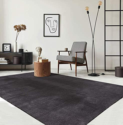the carpet Relax Moderner Flauschiger Kurzflor Teppich, Anti-Rutsch Unterseite,...