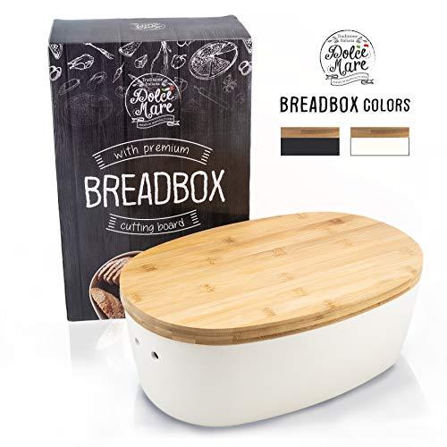 DOLCE MARE Bambus Brotbox - Hübscher Brotkasten - extrem praktischer Brottopf -...