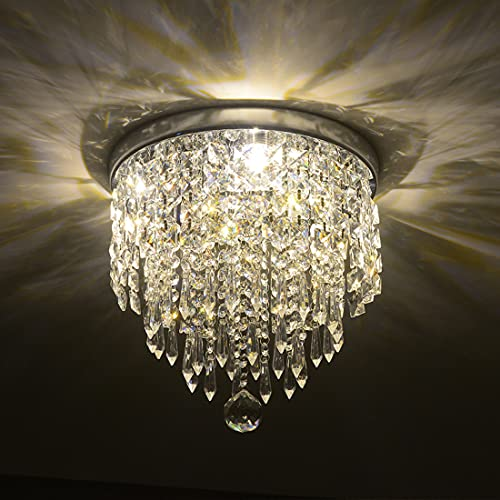 Depuley Modern Kronleuchter Kristall Leuchte mit Elegantem Design, Kristall...