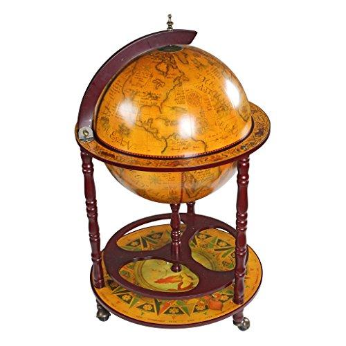 Design Toscano Replika einer italienischen Globusbar aus dem sechzehnten Jahrhundert,...