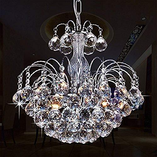 Glighone LED Kronleuchter Kristall Pendelleuchte Lüster Modern Hängeleuchte...