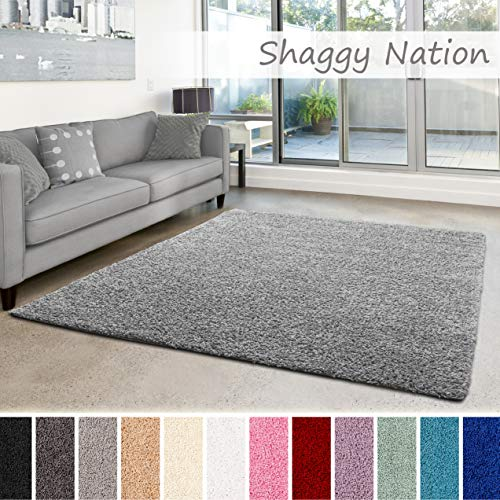 Shaggy-Teppich | Flauschiger Hochflor für Wohnzimmer, Schlafzimmer, Kinderzimmer...