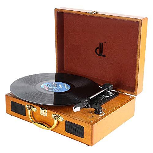Plattenspieler, dl Record Player mit 3 Geschwindigkeiten 33/45/78 Tragbarer Vintage...
