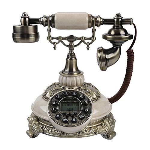 VBESTLIFE FSK/DTMF Vintage Antik Telefon,38-Gruppe Anrufaufzeichnungen One-Taste...