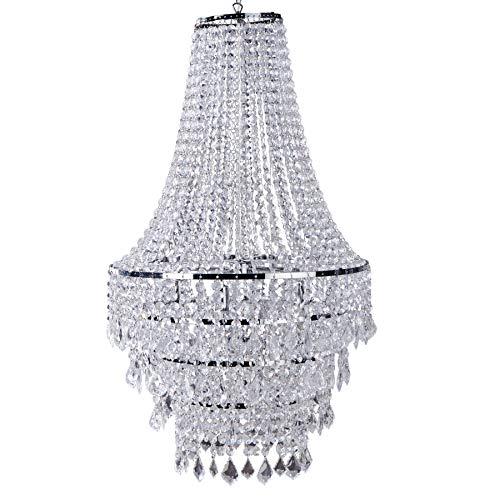 Große XL Design Hängelampe ROYAL Kristall Strass Kronleuchter Lampe Hängeleuchte...