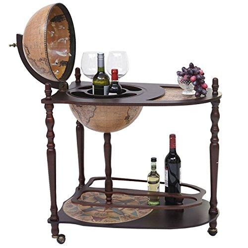 Globusbar mit Tisch HWC-T875, Minibar Hausbar Tischbar, Weltkugel rollbar...