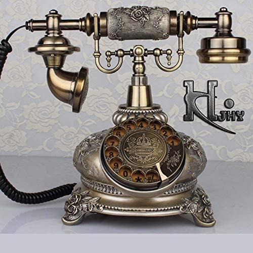 DIANHUA Antikes Telefon Retro Weinlese-klassisches Telefon Wählscheibe...