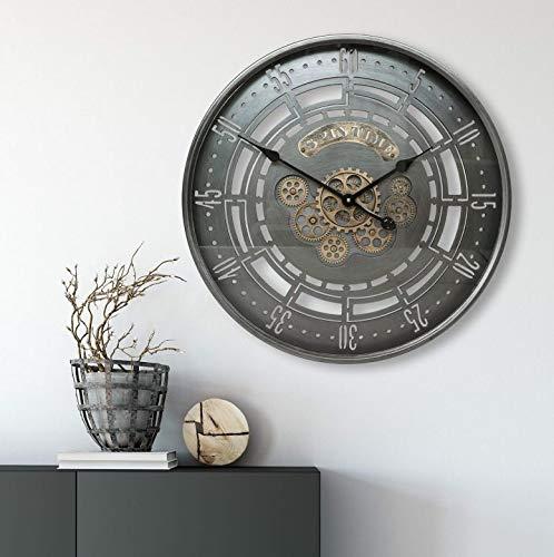 K&L Wall Art Riesige XXL Vintage Metall Glas Wanduhr Extra Grosse Loft Style Wand Uhr...