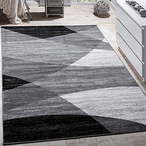 Paco Home Designer Teppich Modern Geschwungene Wellen Linien Muster Kurzflor Meliert...