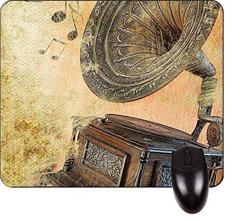 Vintage Plattenspieler - Square Mousepad - Stilvolles, langlebiges Bürozubehör und...