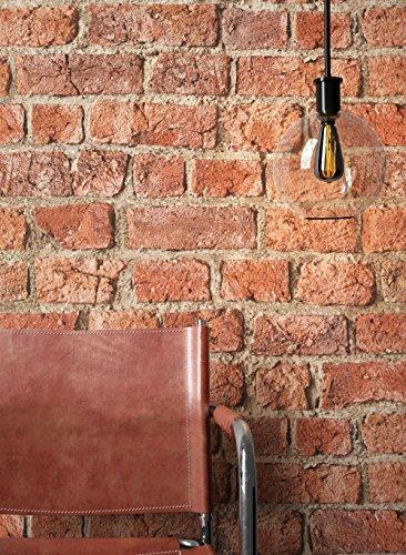 NEWROOM Steintapete Tapete Rot Mauer Stein Modern Papiertapete Braun Papier moderne...