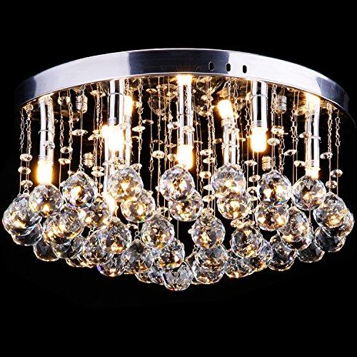 CCLIFE Modern Kristall Kronleuchter LED G9 GU10 Deckenleuchte Pendelleuchte Crystal...