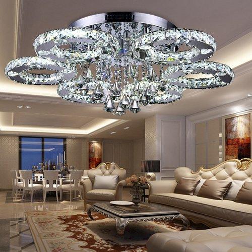fsders VINGO 88W LED Kristall Deckenleuchte Deckenlampe Modern Kronleuchter...