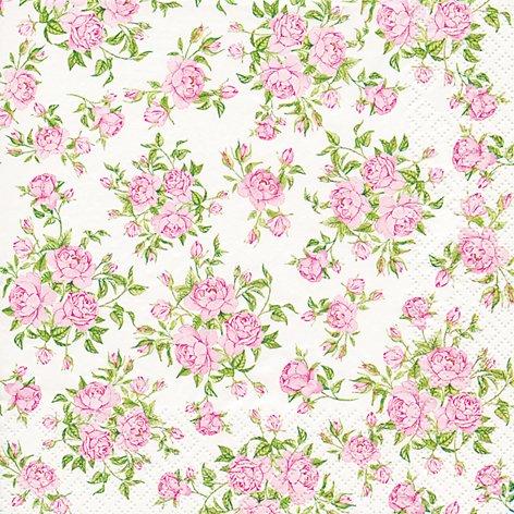 20 Servietten Little Roses – Kleine Rosen / Blumenmuster 33x33cm