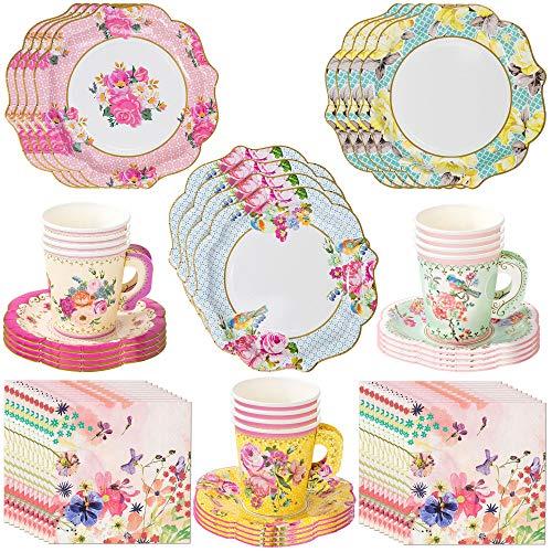 Talking Tables Vintage Tea Party Supplies   Pappteller, Servietten, Teetassen und...