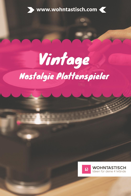 Vintage Plattenspieler – neuer Sound im alten Design